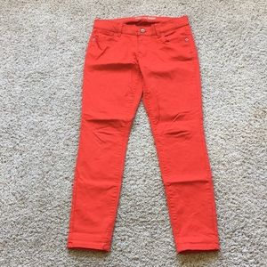Old Navy the Rock Star bright red skinny jeans, 8
